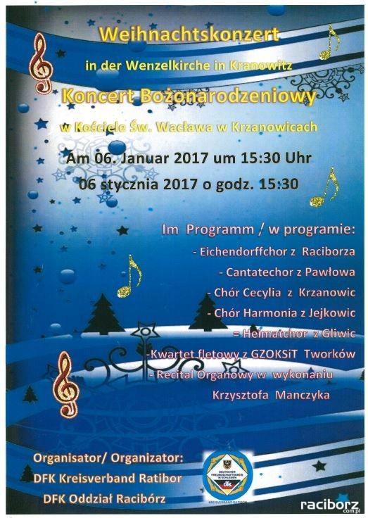 koncert bożonarodzeniowy krzanowicee