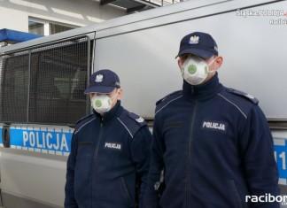 Maseczki policja Racibórz