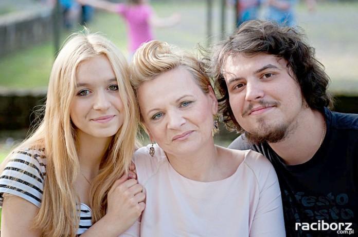 Joanna Maciejska-Tul z córką i synem