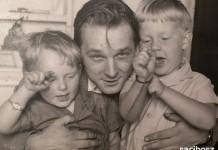 Jan Darowski z synami - arch. rodzinne