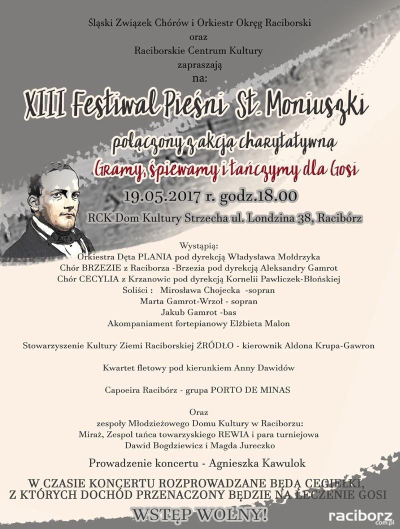 festiwal piesni stanislawa moniuszki rck dk strzecha raciborz