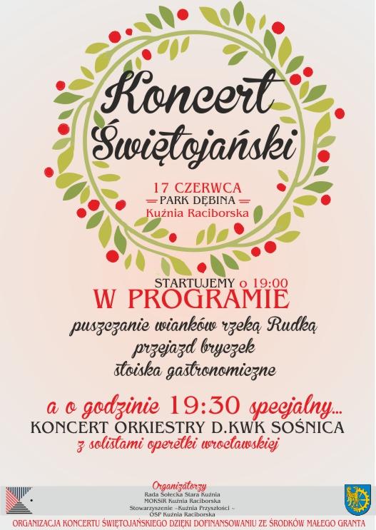 Koncert Świętojański Kuźnia Raciborska