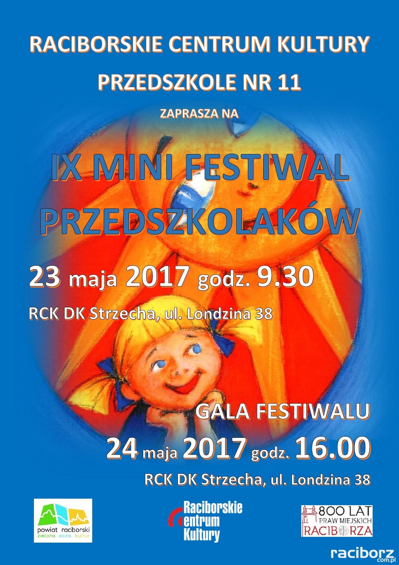 Racibórz, DK Strzecha: IX Mini Festiwal Przedszkolaków - zgłoszenia