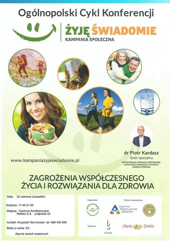 """Rafako, Racibórz: Konferencja """"Żyj świadomie"""""""