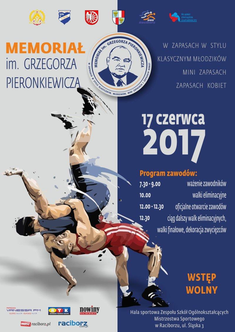 memorial grzegorza pieronkiewicza zapasy raciborz