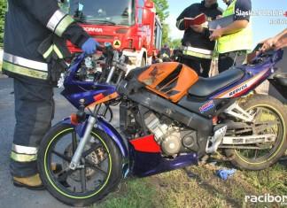Racibórz. Wypadek z udziałem motocyklisty na ul. Rybnickiej