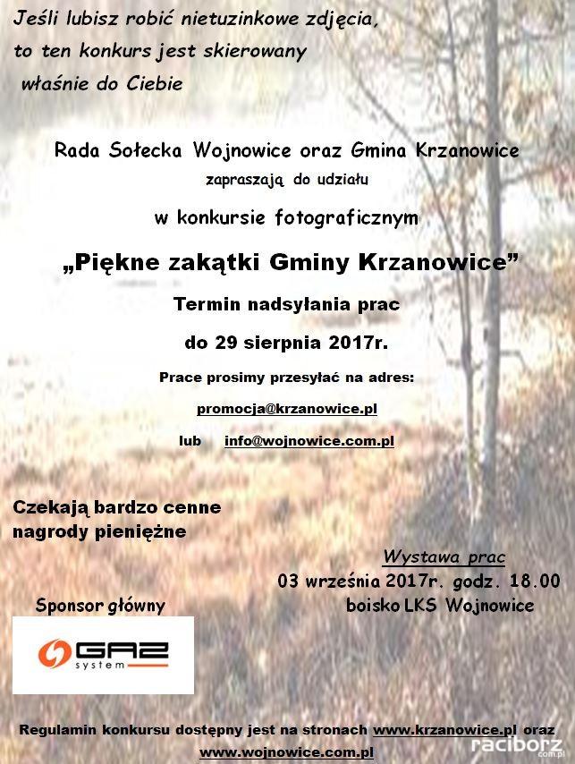 Krzanowice konkurs fotograficzny