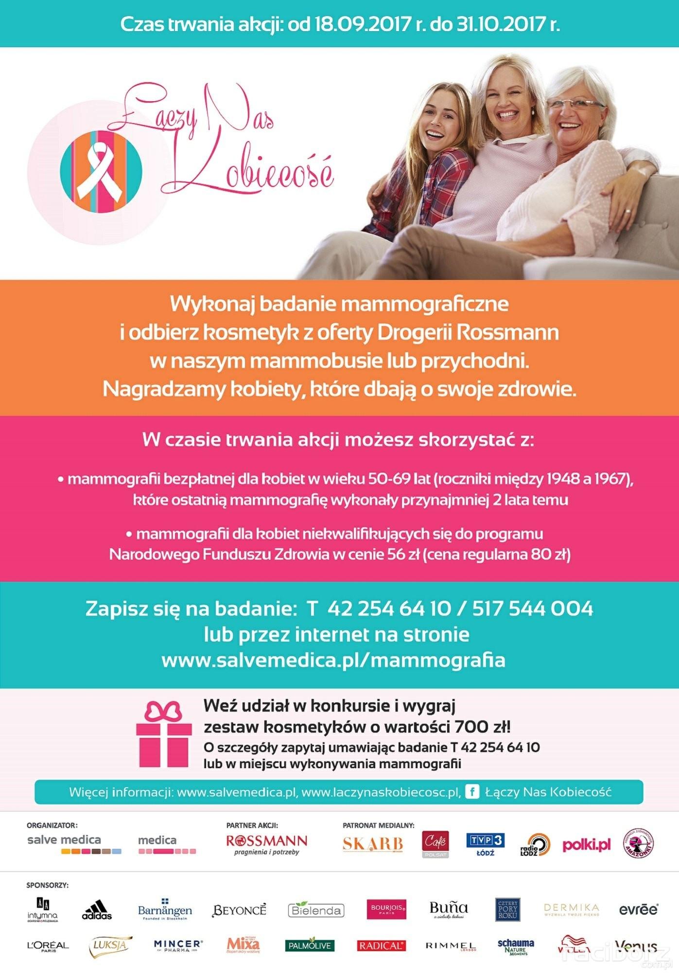 Łączy Nas Kobiecość to ogólnopolska akcja profilaktyki raka piersi