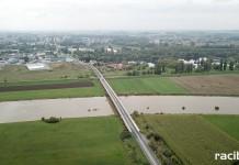 Wysoki stan Odry i Kanału Ulgi po opadach