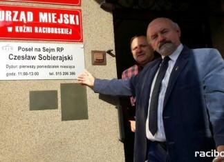 Czesław Sobierajski ma swoje biuro poselskie w Kuźni Raciborskiej