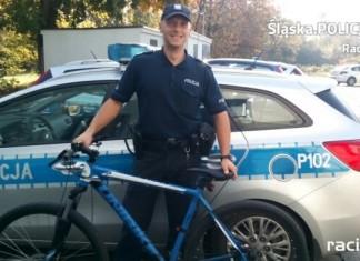 Policja Racibórz: Kuźniański dzielnicowy pomógł w odzyskaniu skradzionego roweru