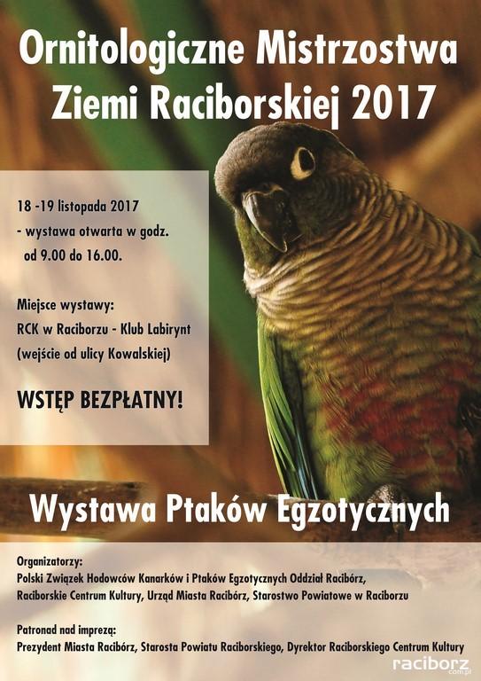RCK Racibórz, Klub Labirynt: Wystawa Ptaków Egzotycznych