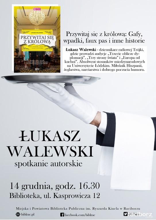 Racibórz: Spotkanie z Łukaszem Walewskim w bibliotece
