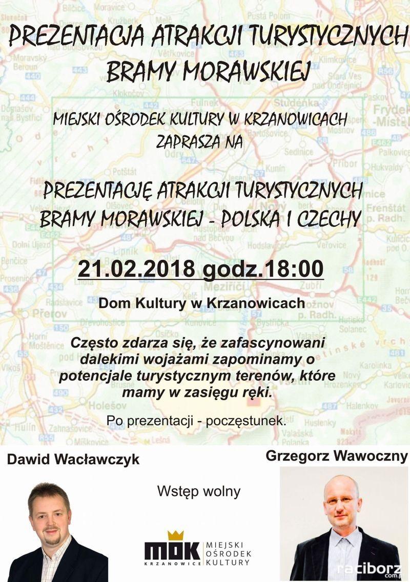 prezentacja atrakcji bramy morawskiej krzanowice