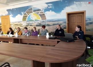 Raciborscy policjanci na spotkaniu w Kornowacu