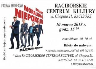 Racibórz: Kabaret Moralnego Niepokoju wystąpi w Raciborskim Centrum Kultury
