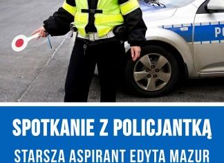 Sptkanie z policjanką w bibliotece