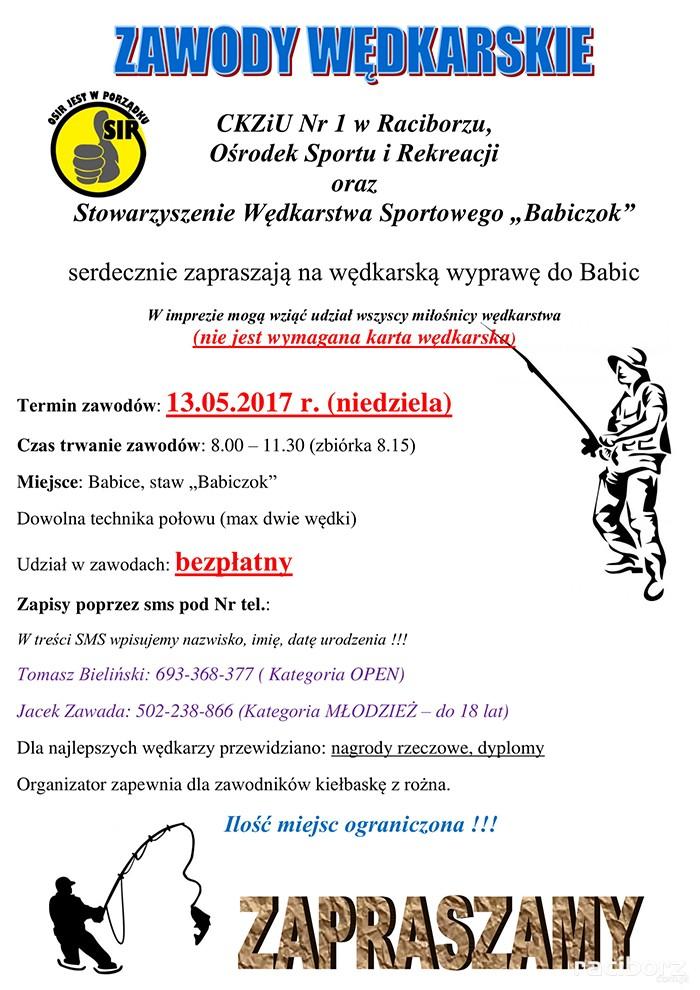 Zawody Wędkarskie Staw Babiczok