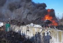 Racibórz: Pożar przy ul. Eichendorffa w obiektywie Szymona Muchy