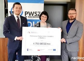 5 mln złotych dla PWSZ w Raciborzu