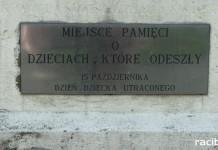 Obecnie w Rydułtowach znajduje się miejsce pamięci o dzieciach, które odeszły