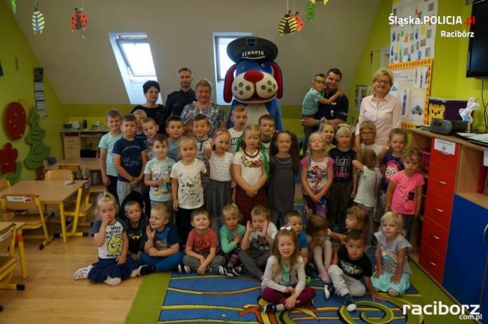 Policja Racibórz: Wizyta w przedszkolu w Łańcach