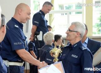"""raciborski policjant mł. asp. Tomasz Florek zajął I miejsce w konkurencji ,,test wiedzy"""""""