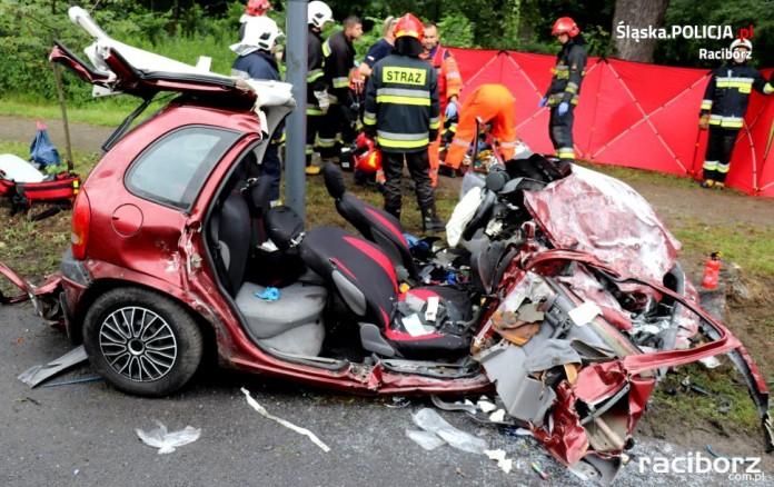 wypadku w Rudach na ulicy Raciborskiej