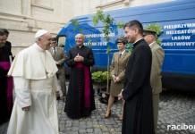 Dęby papieskie w szkółce w Nędzy