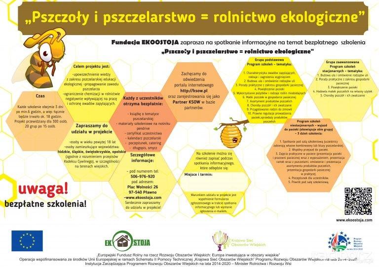 """projekt """"Pszczoły i pszczelarstwo = rolnictwo ekologiczne"""""""