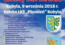 plakat_dozynki_ LKS Płomień Kobyla Gmina Kornowac2018