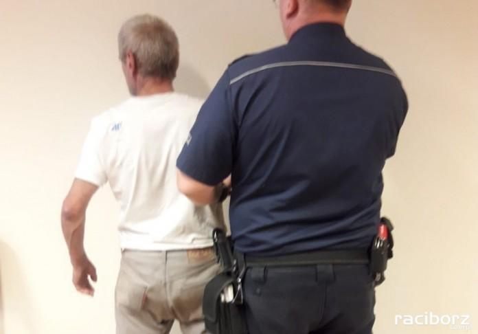 policja kuznia raciborska pijany rowerzysta
