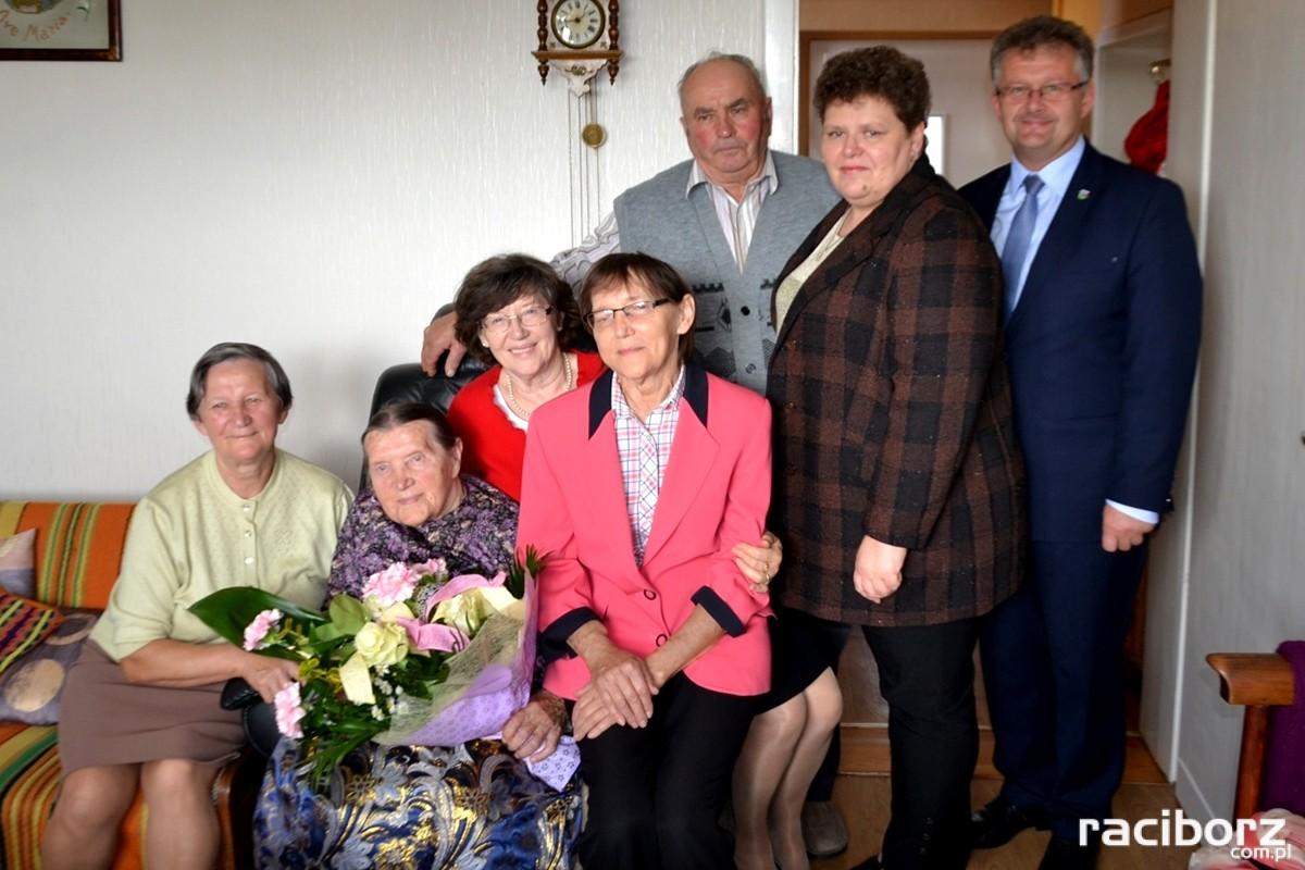 Pani Maria Piszczan w dniu 100. urodzin