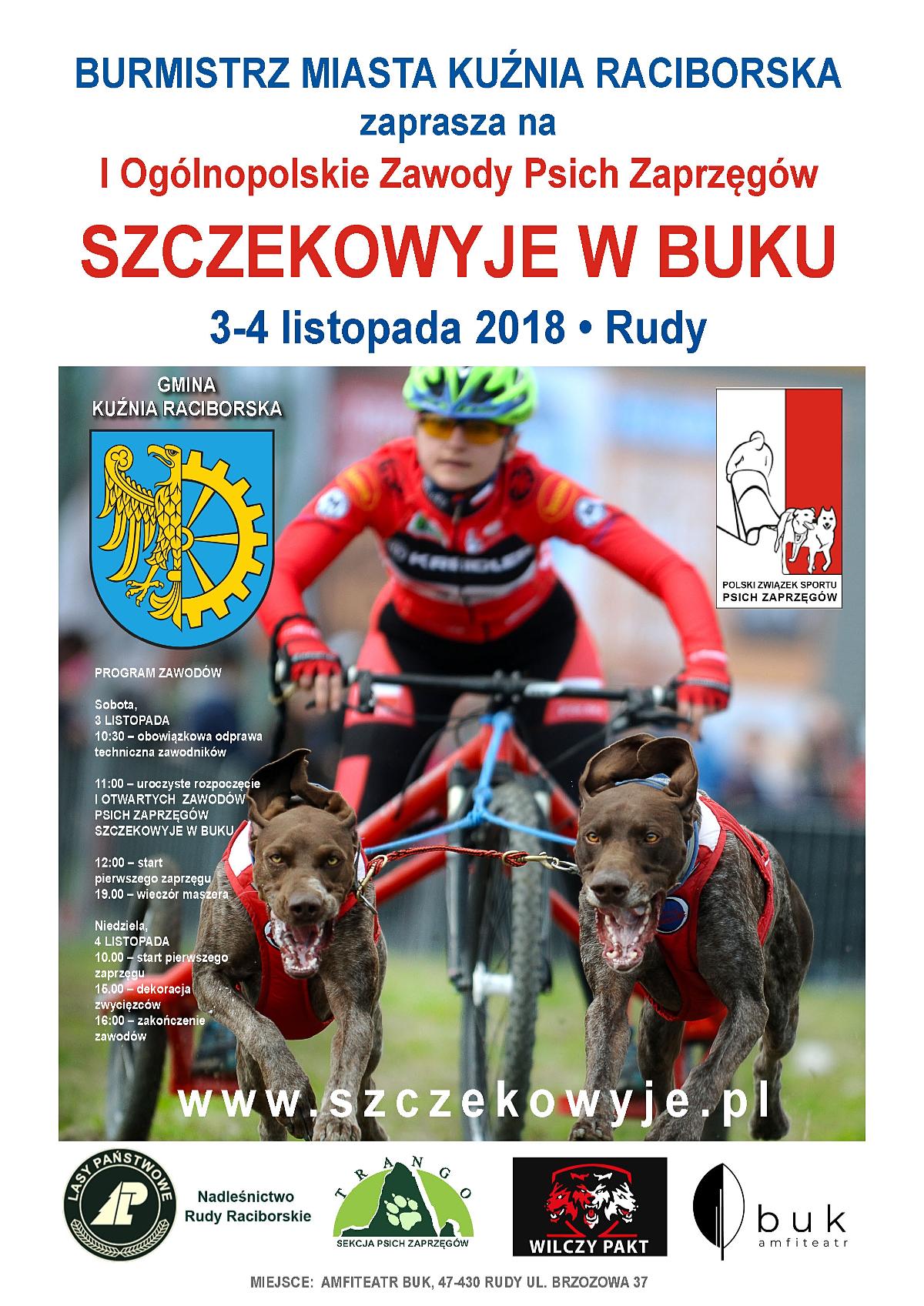 Ogólnopolskie Zawody Psich Zaprzęgów w Rudach 2018