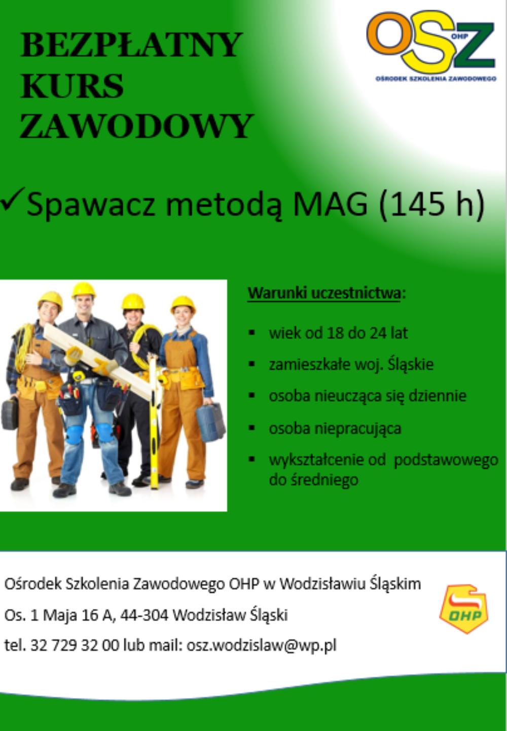 Kurs zawodowy w Wodzisławiu
