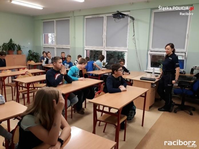 Spotkanie z policją Kornowac Szkoła
