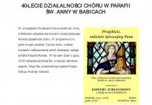 Jubileusz działalności chóru w Babicach