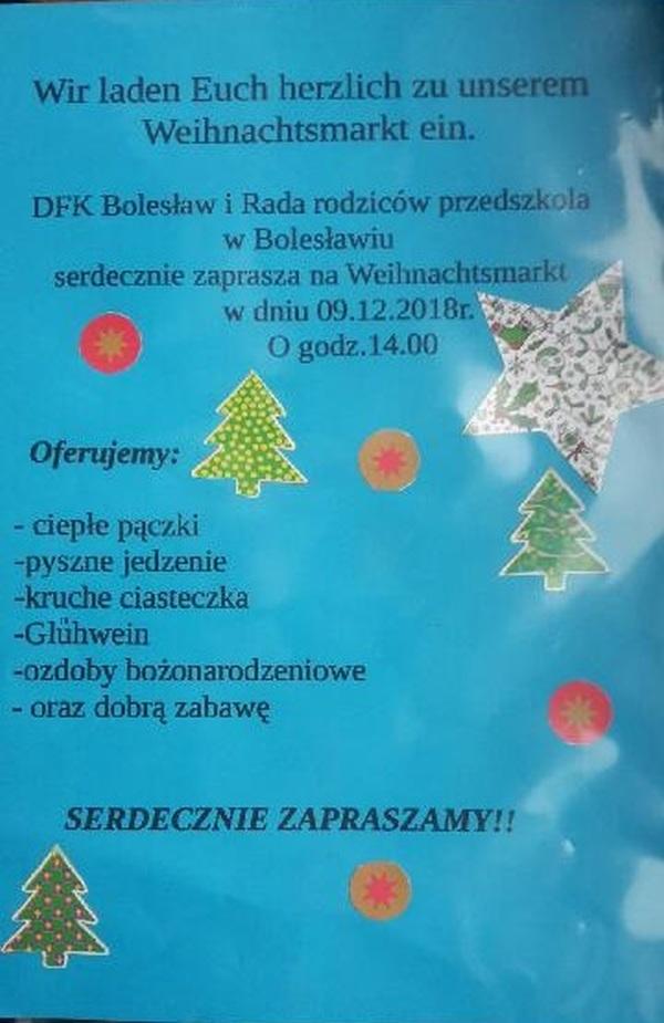 Weihnachtsmarkt W.Weihnachtsmarkt W Bolesławiu 9 Grudnia