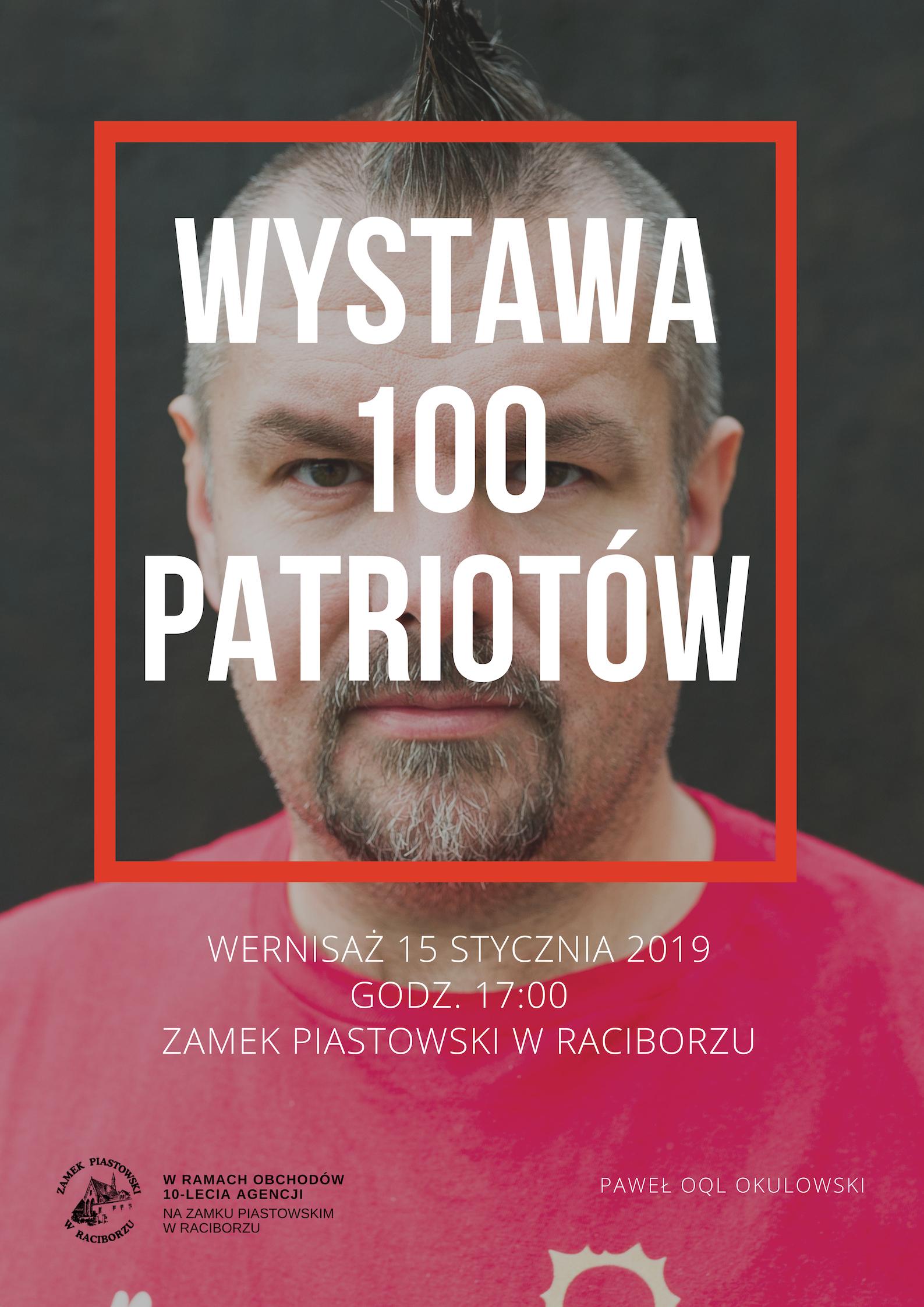 wystawa Pawel Okulowski 100 patriotow