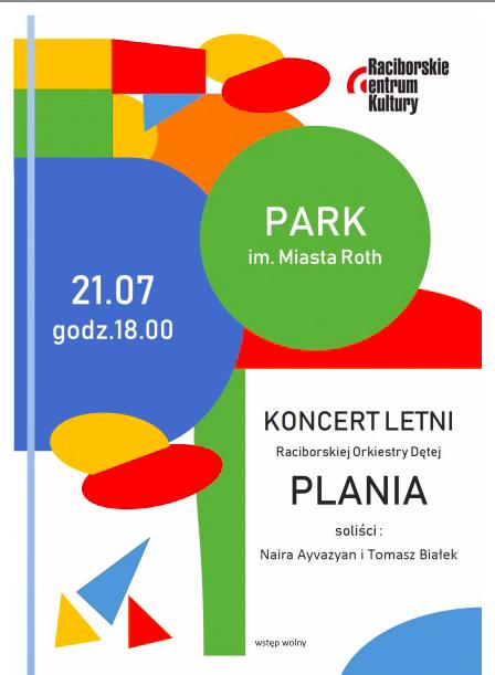 Orkiestra Plania i soliści w Parku Roth
