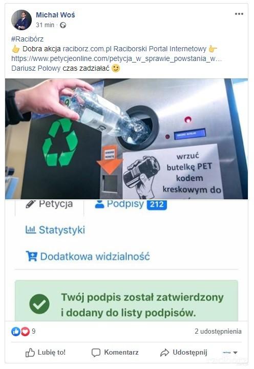 Michał Woś petycja