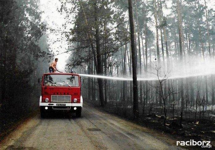 Pożar lasu koło Kuźni Raciborskiej w 1992 roku