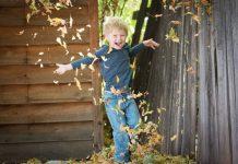 dziecko szczescie jesien
