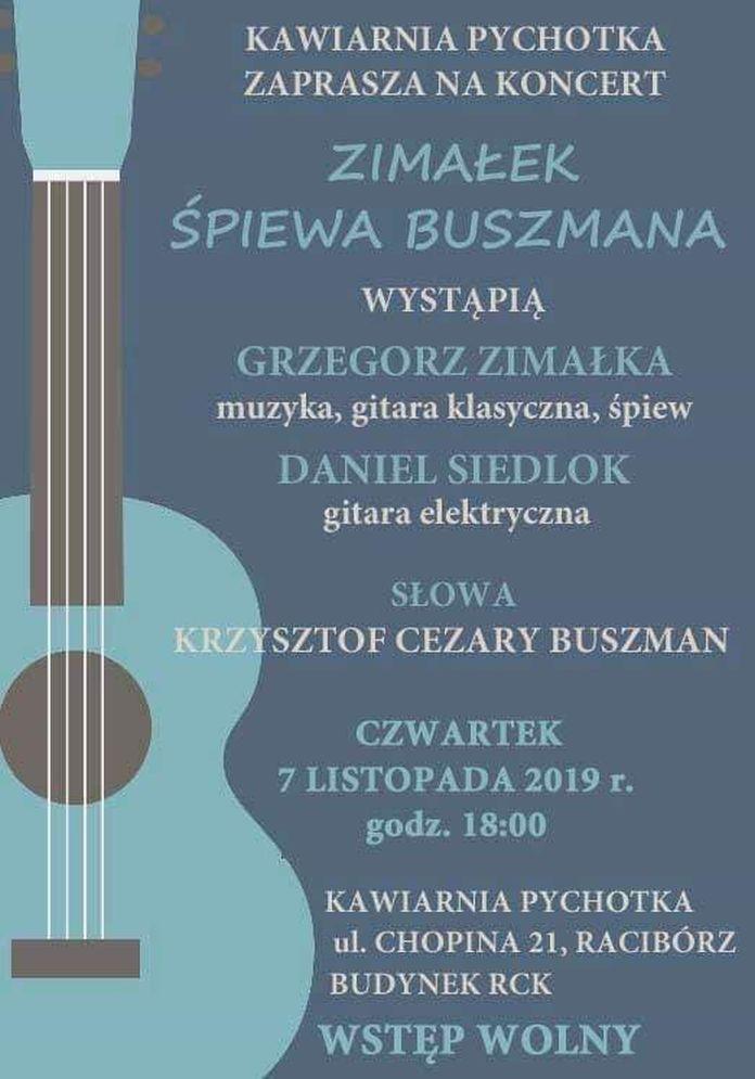 Koncert Zimałek śpiewa Buszmana W Kawiarni Pychotka 7