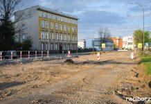 Trwa budowa ronda obok Mechanika i remont ul. Bosackiej
