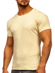 Kremowa koszulka męska