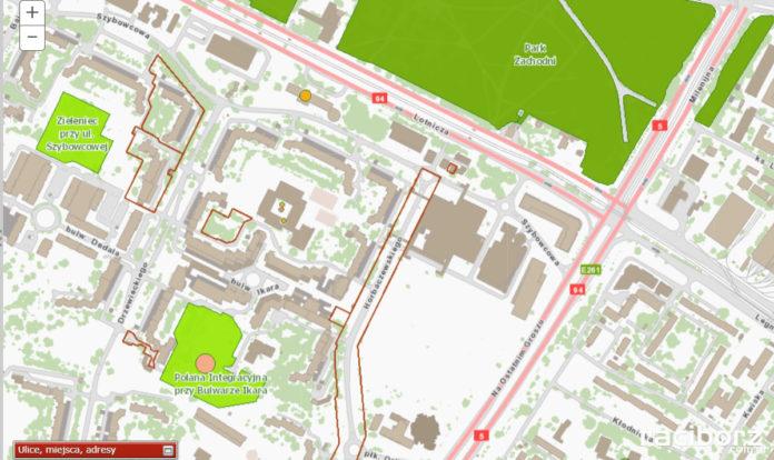 Mapka zieleni we Wrocławiu