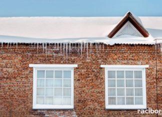 snieg dach sople