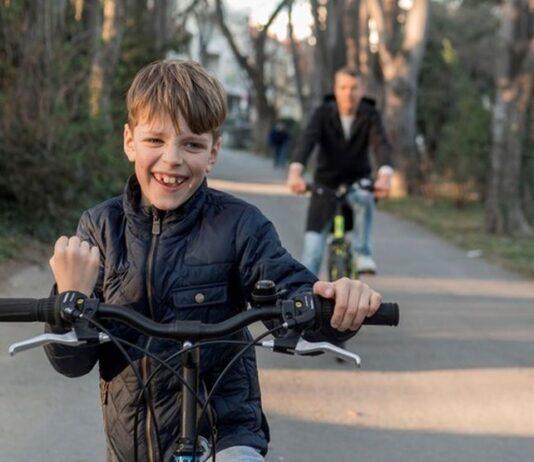 rower dziecko rodzina