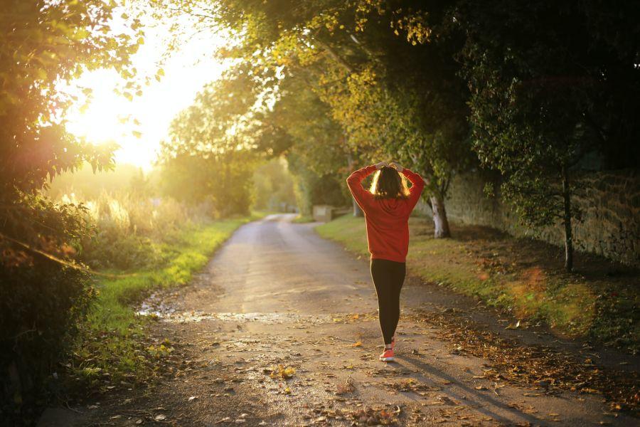 sport biegi spacer